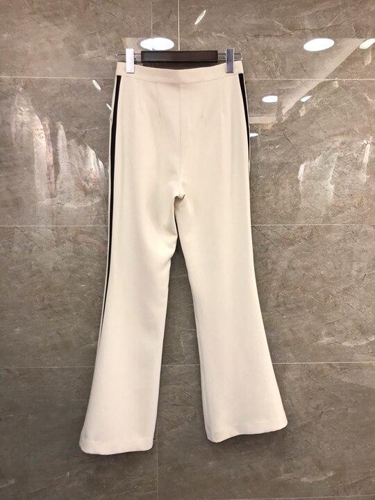 Noir 0312 Nouvelles Et Beige Tour Cloche 2019 Printemps Costume revers Pantalon Femmes Gilet tranchant De Petit D'été xqYwxtdUZ