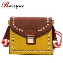 2017 New Fashion Flap Women Bags High Quality Rivet Women Shoulder Bags Famous Brands Designers Crossbody Bag Ladies Bolso Mujer