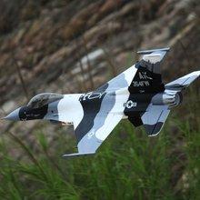 Freewing F16 70 мм EDF jet черный и белый цвет