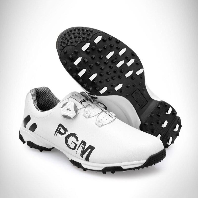 Новое поступление 2018 г. обувь для гольфа PGM, мужская спортивная обувь, непромокаемые нескользящие спортивные кроссовки, мужские ботинки с пр...