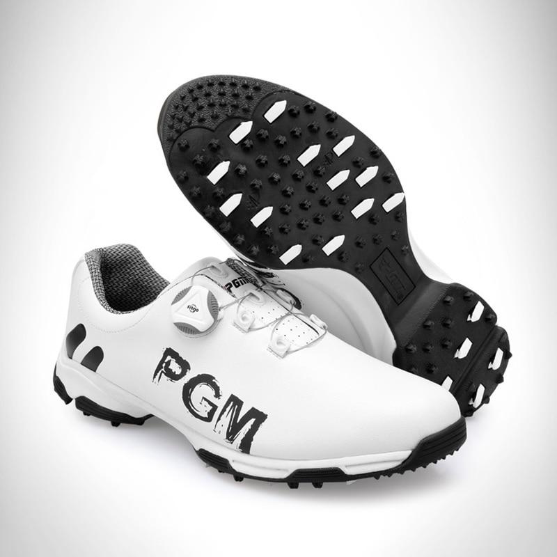 New Arrival 2018 Golf Shoes PGM Men's Sports Shoes Waterproof Anti-skid Sport Sneaker Male Knobs Buckle Shoelace Golf Shoes Men