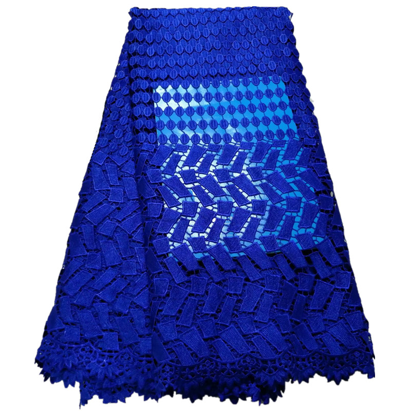 royal blue african guipure lace fabric 2019 cheap wholesales nigerian lace fabrics cord lace fabric for