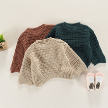 Kids Sweaters 2018 Spring New Korean O-neck Floral Outerwear Children Clothing Baby Girls Pullover Topcoats Knitted Shirts Coats