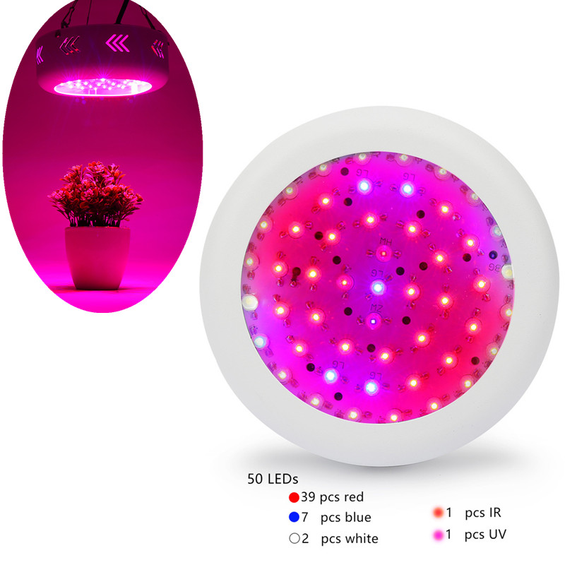 Full Spectrum Growth lamp UFO 150W LED Grow Light LED Lamp UV IR Grow Tent Lighting For Flowering Plant and Hydroponics Grow Box 50w ac85 265v led grow lights full spectrum ufo led lamp uv ir growing led lamp tent lighting for flowering plant hydroponics page 4