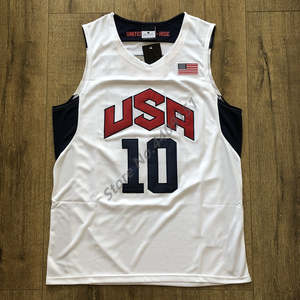 240bc702d 10 Kobe Bryant 2012 Dream Team USA Throwback Basketball Jersey