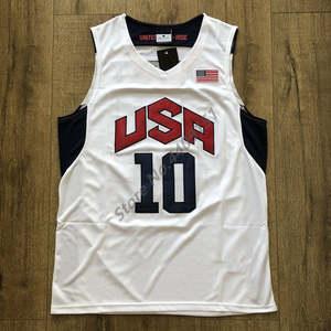 240bc702d 10 Kobe Bryant 2012 Dream Team USA Throwback Basketball Jersey
