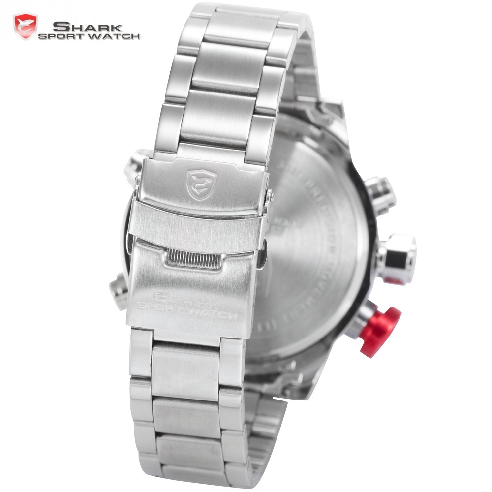 Товар SHARK Sport Watch Stainless Full Steel LED Dual Time Analog ... a09f2d989f51c