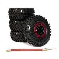 LeadingStar 4pcs 2 2 Inch Inflatable Beadlock Tire Air Pneumatic Wheel For 1 10 RC Crawler