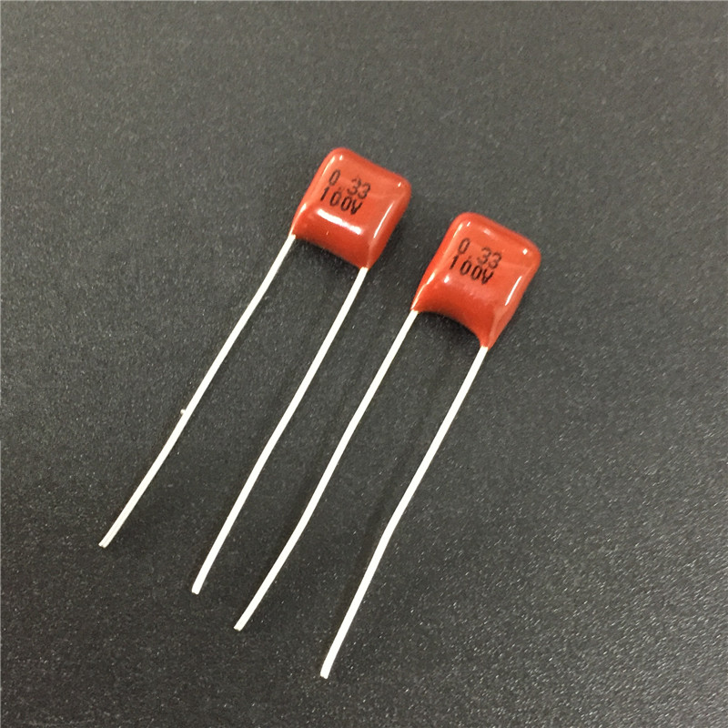 10pcs CBB Capacitor 334 100V 334J 0.33uF 330nF P5 Metallized Polypropylene Film Capacitor