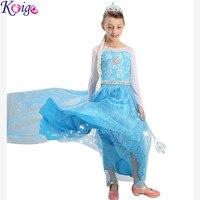 2016 Summer New Children Dresses For Girls Elsa Dress Princess Anna Cosplay Costume Baby Kids Clothing