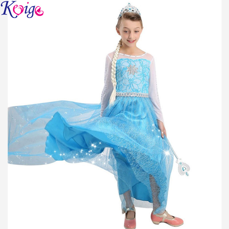 2017 Summer New Children Dresses For Girls Elsa Dress Princess Anna  Cosplay Costume Baby Kids Clothing Vestido Infantis of Elsa мона лиза постельное белье blanche 1 5 спальный 50 70 mona liza