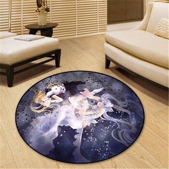 160X160 CM Sailor Moon Sailor Cosmos Alfombra Redonda Colgante Silla Cojín Creativo Dormitorio Adornos Footcloth X1315