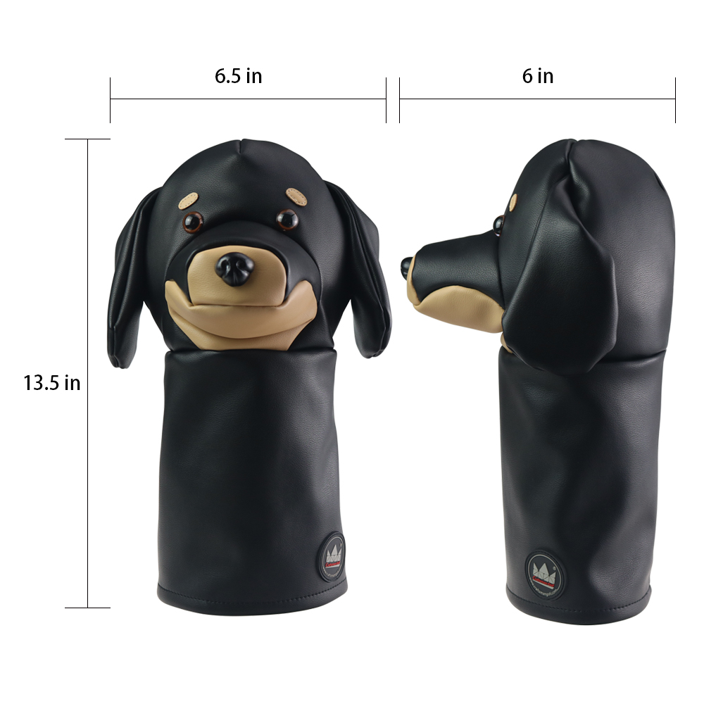 Image 5 - Craftsman Golf Driver Animal Headcover Dachshund/Bulldog/Sloth 460cc Driver Cover for Clubs Wood Cover PU Leather FREE SHIPPING-in Golf Clubs from Sports & Entertainment