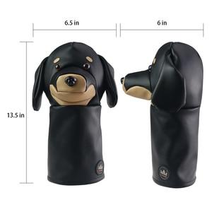 Image 5 - Cubierta de cabeza de Animal para Conductor de Golf Craftsman, cubierta para Conductor de Golf con perro salchicha/Bulldog/perezoso de 460cc, cubierta de madera para palos, cubierta de cuero de PU
