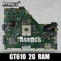 Asepcs X55VD Laptop motherboard for ASUS X55VD X55V X55 Test original motherboard REV2.1/REV2.2 GT610M 2GB RAM