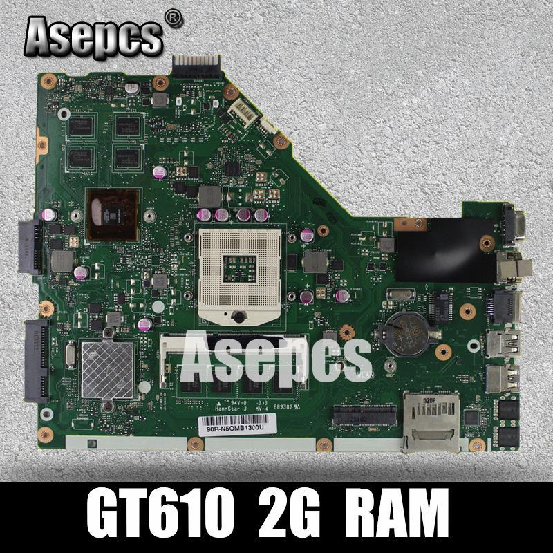Carte mère d'ordinateur portable Asepcs X55VD pour carte mère originale de Test ASUS X55VD X55V X55 REV2.1/REV2.2 GT610M 2 GB RAM
