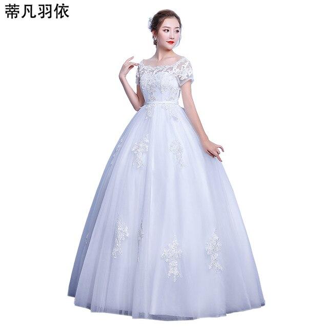 Беременная женщина свадебное платье Высокая талия настоящая фотография Свадебное платье бальное платье повязки Кружево applioqued Robe De Mariage