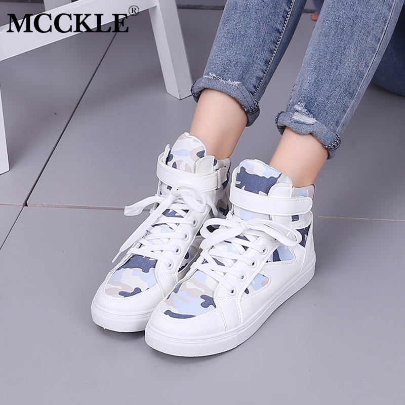 MCCKLE Women Lace Up Platform Vulcanize Shoes Woman Hook Loop Flat Footwear Mixed Color Spring Female Shoe Students Sneakers de la chance women vulcanize shoes platform breathable canvas shoes woman wedge sneakers casual fashion candy color students