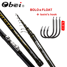 obei Telescopic Portable Bolo Fishing Rod 3.8 4.5 5.2m Travel Ultra Light  Spinning Casting  float fishing 10-40G pole aqua travel spin 2 40m 10 40g