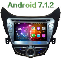 8'' 2GB RAM Android 7.1.2 Quad Core 4G WiFi Car DVD Player Radio Stereo GPS Navi Screen For Hyundai Elantra Avante I35 2011 2013