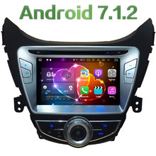 "8"" 2GB RAM Android 7.1.2 Quad Core 4G WiFi Car DVD Player Radio Stereo GPS Navi Screen For Hyundai Elantra Avante I35 2011-2013"