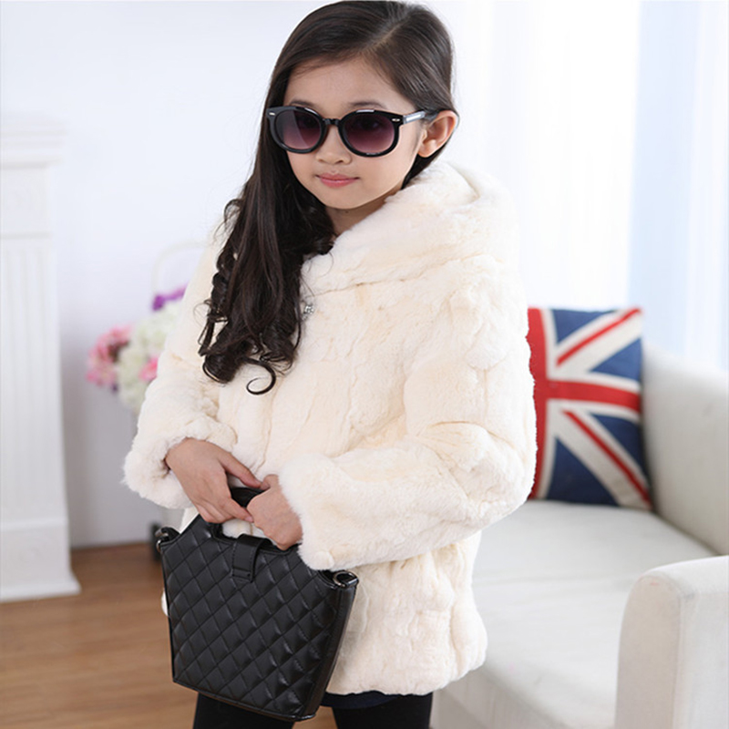 New children's clothing imitation rex rabbit fur long coat baby and children's fur plus cotton thickening even hat coat FPC-109 new russia fur hat winter boy girl real rex rabbit fur hat children warm kids fur hat women ear bunny fur hat cap