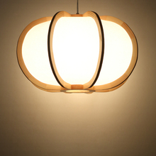 Estilo japonés madera lámpara