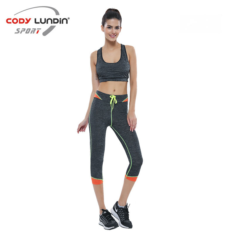 Running Pants Tight Sweat Absorption Polyester Quick-Dry Breathable Fitness Women Yoga Sportswear