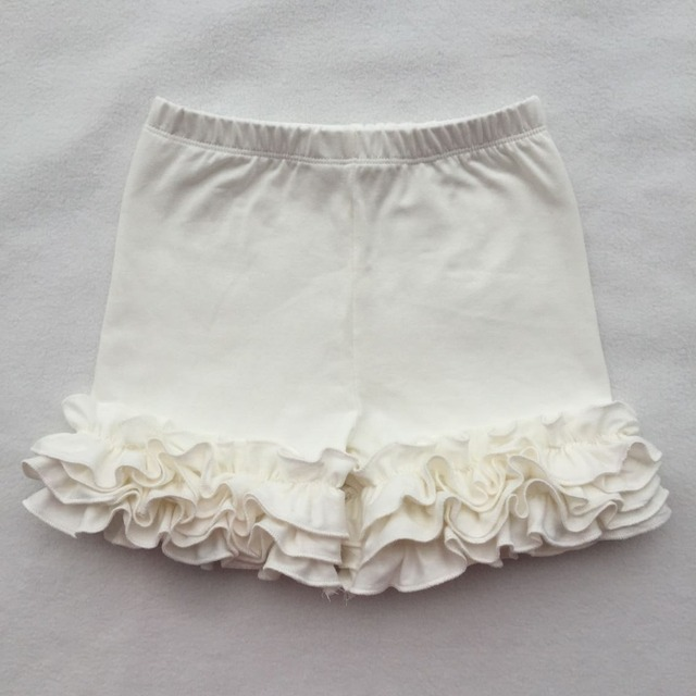 Baby Cotton Ruffle Baby Shorts Toddler Girls Shorts Kids Knit Icing Baby Girl Shorts Children spring Summer Clothes dress pants