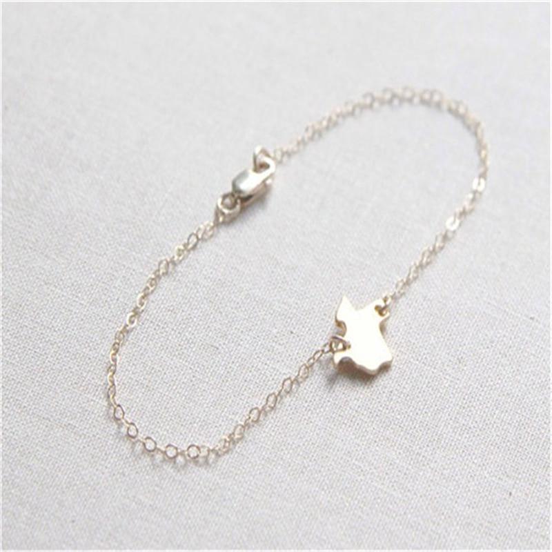 30pcs Fashion Map Bracelet Jewelry Texas State Bracelet State Charm Bracelet Jewelry Choose Your State Charm Bracelet Necklace