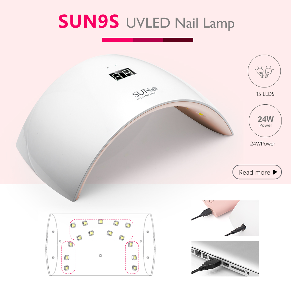 Sunuv Sun9c Plus 36w Uv Led Nail Lamp 18 Leds Dryer For All High Power Flashlight Selection And Schematic 9s 950