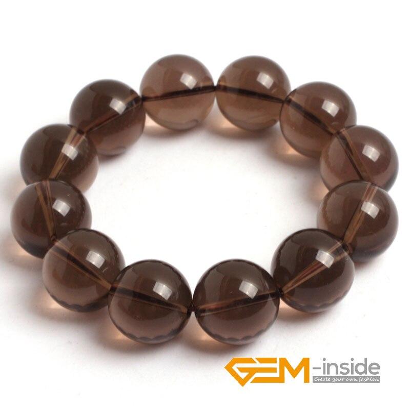 Smoky Quartzs Bracelet : 4mm To 16mm Natural Stone Bracelet DIY Jewelry Bracelet Guardian Stone For Pisces Free Shipping