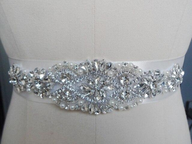 2017exquisite Handmade Bridal Belt Decorative Accessories Sparkling Crystal Wedding Dress Belts Beads Slim Girdle Sash