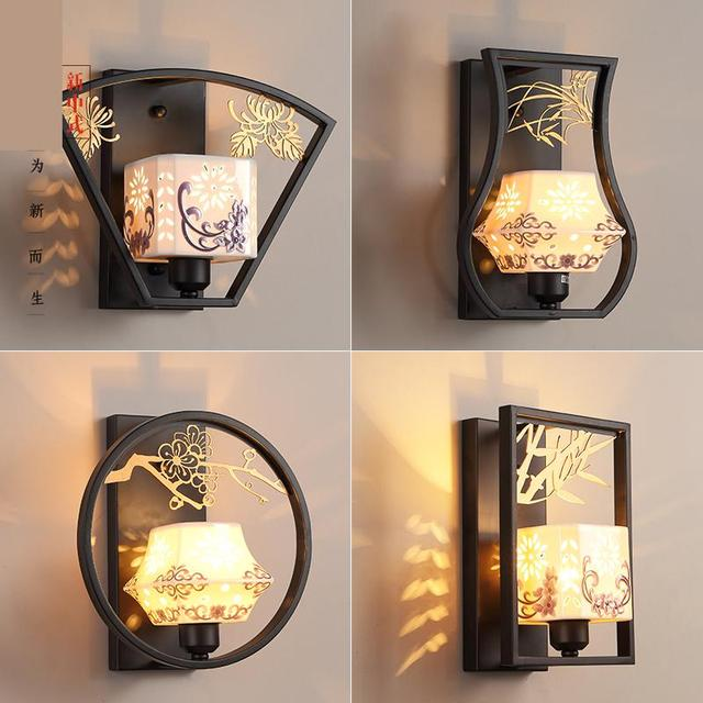 US $165.3 13% di SCONTO|Moderno E Minimalista Camera Da Letto Antico  Lampada Da Parete Lampada Da Comodino Camera Hotel Corridoio Retrò Nuovo  Cinese ...