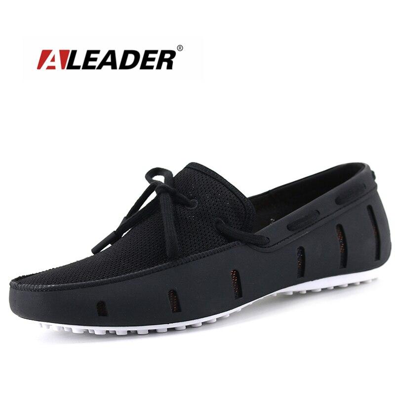 Aleader/мужские лоферы высокого качества, Повседневная модная мужская обувь на плоской подошве, дышащая мужская обувь без шнуровки, обувь для в...