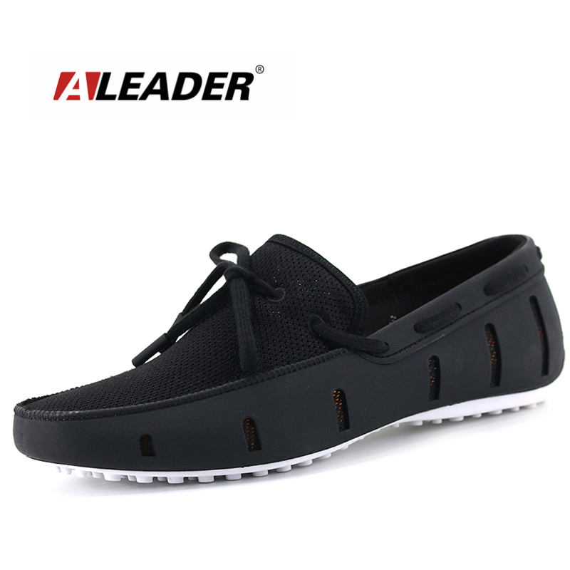 Aleader Mens Alta Qualidade Mocassins Homens Sapatos Da Moda Sapatos Casuais Apartamentos Respirável Homens Mocassins Deslizamento Em Sapatas de Condução Tamanho Grande Nada