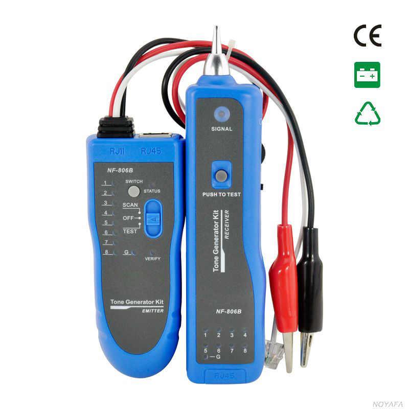NF-806 اللون الأزرق متعددة الوظائف كابل للكشف عن دعم تتبع سلك الهاتف كابل شبكة محلية مكتشف NF_806