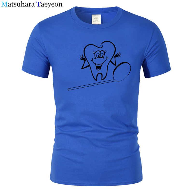 36d483da ... Summer Funny T-Shirt Man Tooth dentist T Shirt Male Cotton Tees Great  Man Print ...