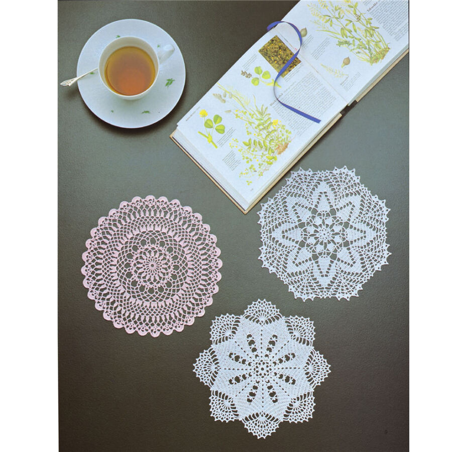 Luxury Lace Crochet Knitting Patterns Book For Tablecloth And Lace Cushion Golden Lace Office & School Supplies