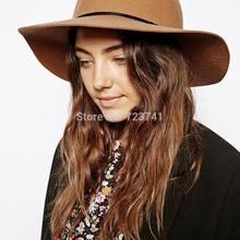 Новая мода Осень Зима Шерсть Женская фетровая шляпа цвета хаки Трилби, войлочная шляпа от солнца, женская кепка размер 56-58 см