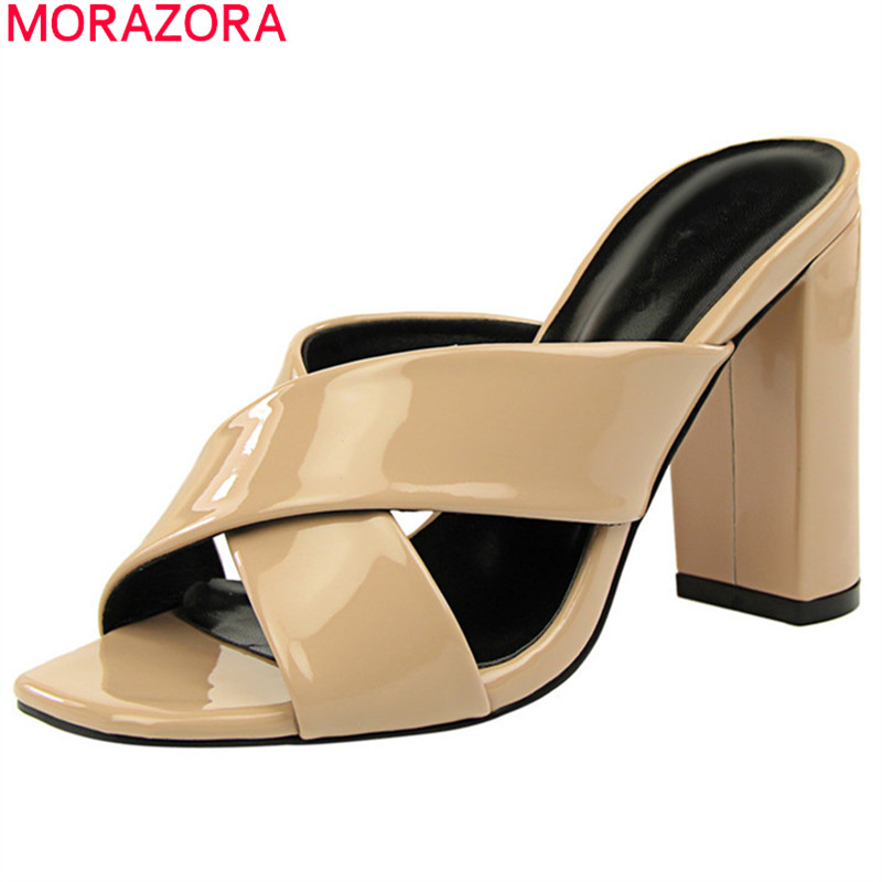 MORAZORA 2019 new arrival women sandals open toe super high heels shoes solid colors summer shoes party wedding shoes woman MORAZORA 2019 new arrival women sandals open toe super high heels shoes solid colors summer shoes party wedding shoes woman