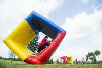 Outdoor fun Grass rolling Inflatable Bounce inflatable sport game jumping playground for kids ang adult