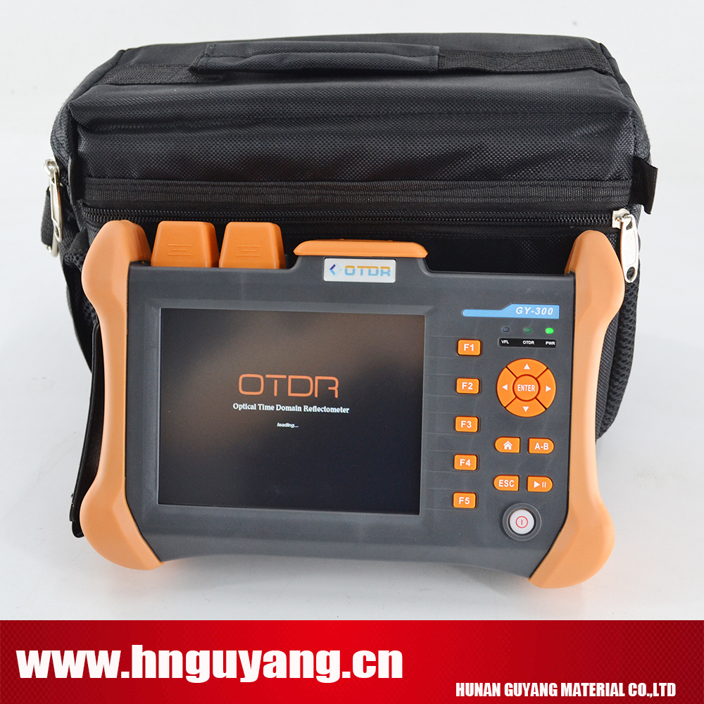 GUYANG GY300A single-mode OTDR touchscreen Optical Time Domain Reflectometer SM OTDR 1310/1550nm 30/28DB with VFL