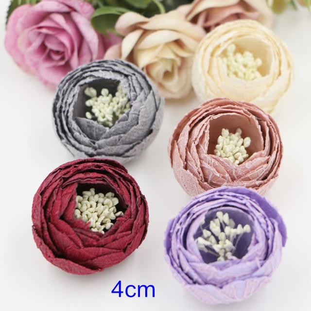 10 pcs 4cm Lace Flowers,3D Flowers Handmade Fabric Flowers,Wedding ...
