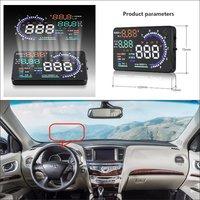 Araba HUD Head Up Display Infiniti QX60 QX70 QX80 2015 2016 Güvenli Sürüş projeksiyon ekranı Bilgi Refkecting Cam|Baş Üstü Ekran|Otomobiller ve Motosikletler -