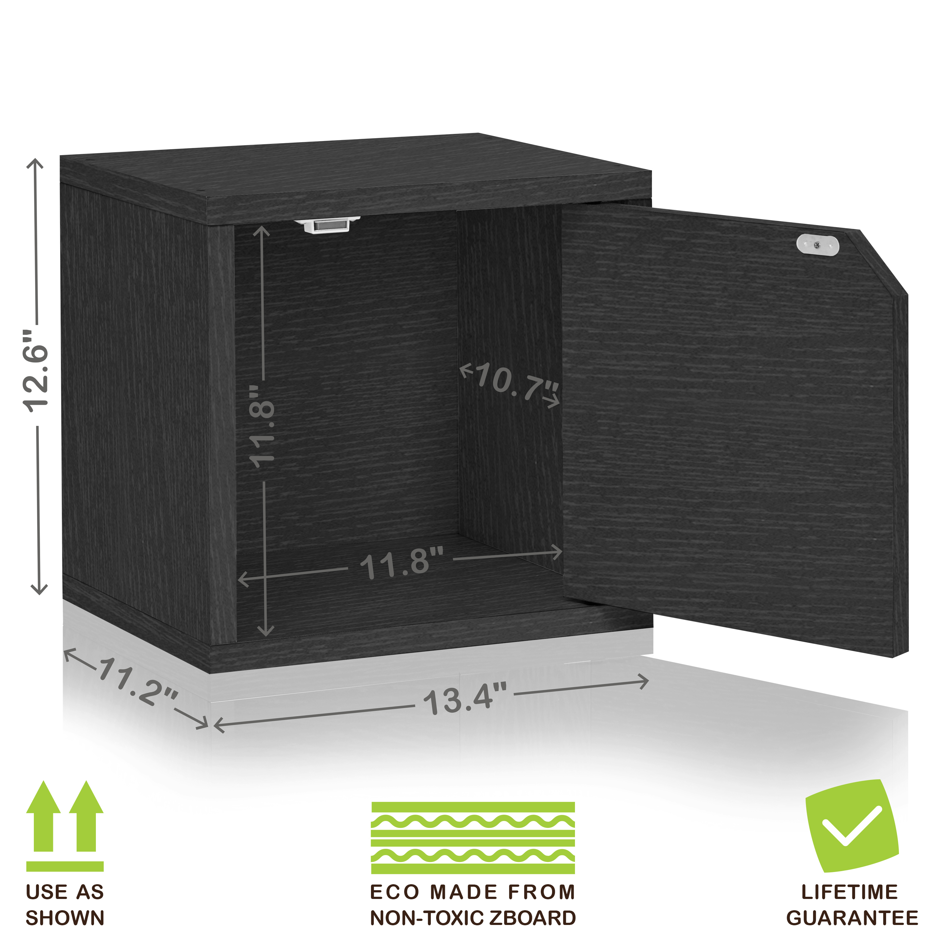 Eco Stackable Connect Storage Cube with Door Black Wood Grain - Tool Free Assembly - LIFETIME WARRANTY  sc 1 st  NicePrice & Eco Stackable Connect Storage Cube with Door Black Wood Grain ...