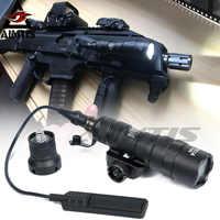 AIMTIS M300B Mini Scout lumière tactique Rail lumière fusil chasse lampe de poche sortie constante/momentanée pour 20mm Picatinny Rail
