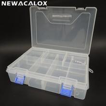 Double Transparent PP Toolbox Electronic Plastic Parts Box f