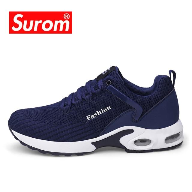 7911a02cd SUROM Krassovki Linha da Mosca Dos Homens Do Esporte Calçado Sapatilhas  Sapatos de Corrida Leve Respirável