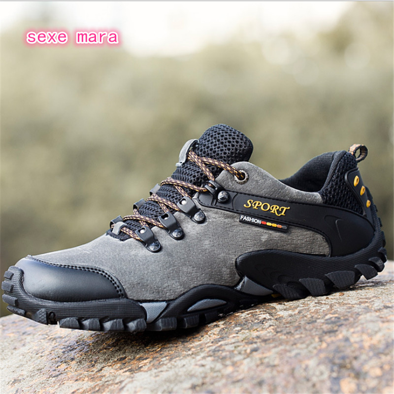 $34.43 2018 Outdoor Sport Shoes Man Sneakers Men Brand Running shoes for men Trainers Jogging  Shoes non-slip Off-road Walking arena